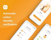 Online Identity Onboarding Mobile App UI UX