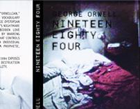 "Capa do livro ""Nineteen Eighty Four"""