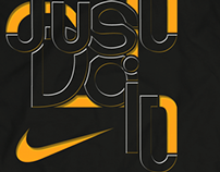 Just Do It, Nike Typography