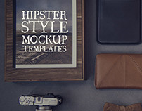 Hipster Style Mockup Templates