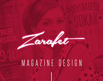 Zarafet Magazine Project-Magazine Design