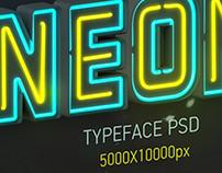 NEON Typeface PSD