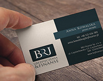 brj finanse | business card