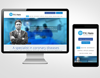 cardiologist website - UI and UX Design