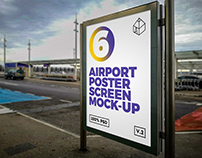Airport Poster Screen Mock-Ups 7