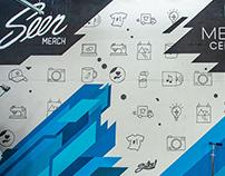 Seen Merch office mural