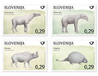 Postage stamps: Prehistoric mammals
