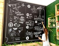 Chalklettering Betânia, Costume Saudável.