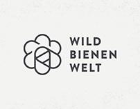 Wildbienenwelt, logo design