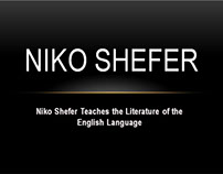 Niko Shefer Helps Students Analyze English Literature
