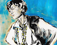 A C R Y L I C / Illustrations of Coco Chanel