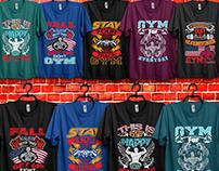 Gym T-Shirts Design Bundle.