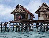 Project T.R.Y. keyframe illustrations