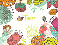 Floral backgrounds, posters, postcards