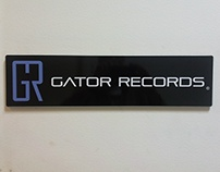 Gator Records logo redesign