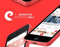 E - Marketing Shopping Mall - Mobile App Design