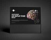 Free LED Display Stand Mockup