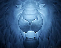 Lion Head wall light