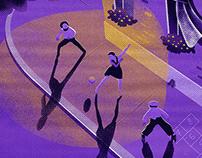Dodgeball illustration