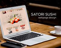 Satori Sushi webpage