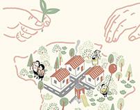 龜山區公所 — 『桃園大未來,活力新龜山』懶人包文宣 系列插畫