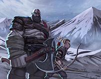 God of War fanart - Kratos and Atreus