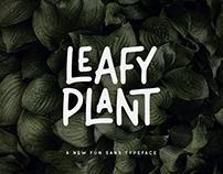Leafy Plant Typeface