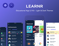 Learnr - Online Courses Educational App UI Kit