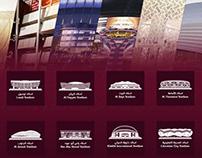 2022 World Cup stadiums in Qatar flat vector