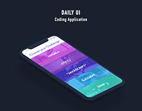 Daily UI - Coding App