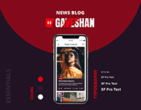 UI/UX Design - Gaveshan News Blog Mobile Application