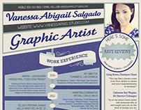 Hire Me | Print + Web Design Resume | Curriculum Vitae