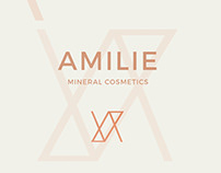 Amilie mineral cosmetics: logo & business card