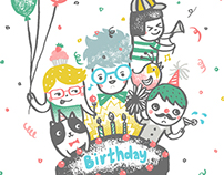 Birthday Greeting Card design