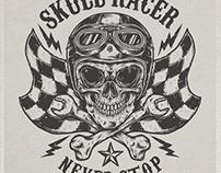 SKULL RACER T-SHIRT DESIGN