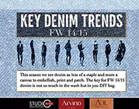 KEY DENIM TREND - AUTUMN WINTER 2014/15 FOR MEN'S WEAR