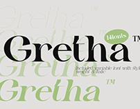 Gretha - Free Display Serif Font