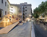 Ephemeral installation at Arts Santa Monica´s terrace