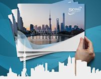 SkyMAX logo & guideline design