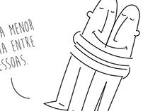 Layout e Ilustrações para painel Motivacional