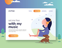 Free* My Music Flat Design
