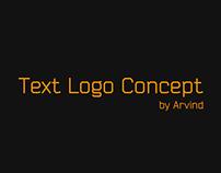 Text Logo Concept