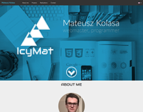IcyMat - personal website project