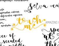 Touch Me font