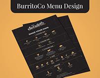 The Burritico Menu Design