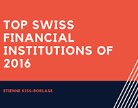 Top Swiss Financial Institutions of 2016