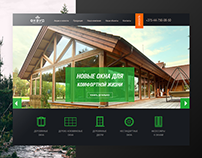Coprorate website design for okwood.by