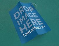 Brochure Mockup Featuring a 2 Panel Brochure