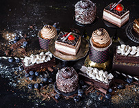 """mini cakes and cupcakes for confectionery """"Sala"""""""