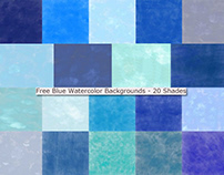 Blue Watercolor Background Free Download